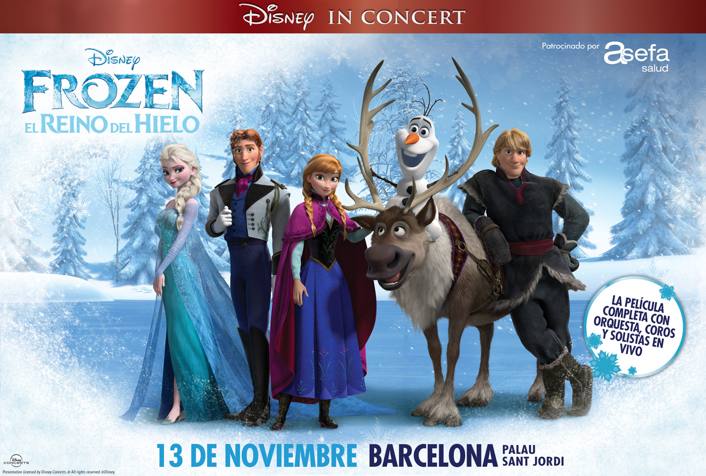 In love with Karen en el concierto de Frozen