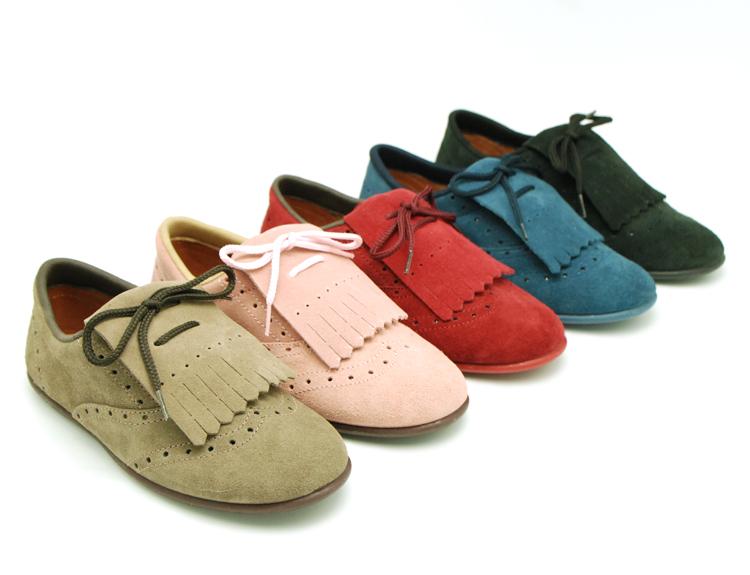 Zapatos tipo Blucher con Flecos